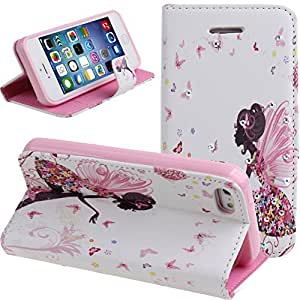 Case for iPhone 4s,Cover for iPhone 4s,Case for iPhone 4,Wallet Case for iPhone 4s,NSSTAR Butterfly Fairy and...