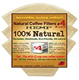 P&F(3 pack)Natural Reusable Cone Coffee Filters #4- FULL TASTE- NO HARMFUL CHEMICAL IN YOUR DRIP COFFEE ANYMORE- 100% Natural- fits all 8-12 cup electric and 6 Cup Pour-Over Brewer coffee makers(#4)