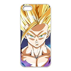 Classic Japanese Anime Dragon Ball Goku For Iphone5/5s Black or White Best Rubber Cover Case-Creative New Life