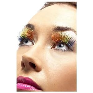 Fake rainbow lashes