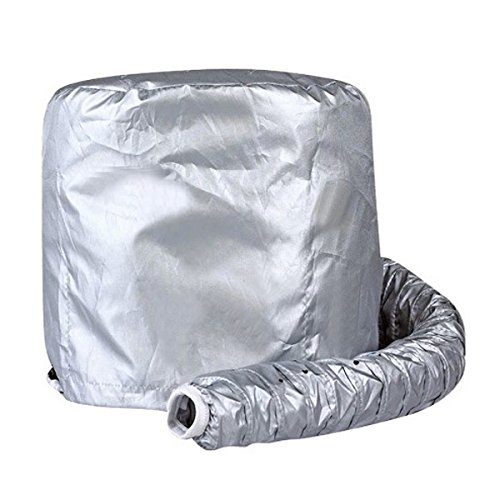 Museya Portable Safe Women Hair Dryer Soft Bonnet Hood Attachment Haircare Salon Hairdressing Hat Cap (Silver)