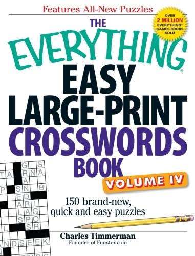 The Everything Easy Large-Print Crosswords Book, Volume IV: