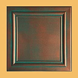 Antique Ceilings Inc - Zeta Copper Patina - Styrofoam Ceiling Tile (Package of 10 Tiles)