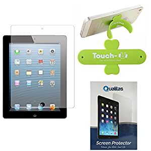 Qualitas Pack of 10 Matte Screen Protector for Apple iPad Mini / Mini 2 / Mini 3 + Touch U Mobile Stand