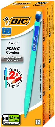 BIC - Matic Combos - Écriture - Porte-Mines 0,7 Mm - Lot de 12