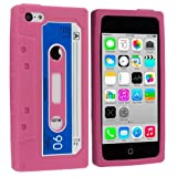 Light Pink Cassette Retro Tape Silicone Rubber Gel Soft Skin Case Cover for Apple iPhone 5C