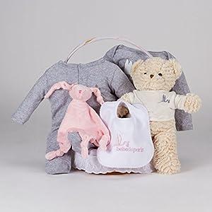 Canastilla regalo bebé Casual Esencial BebeDeParis-Rosa- cesta regalo recién nacido - BebeHogar.com