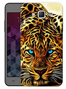 """Humor Gang Leopard Face Printed Designer Mobile Back Cover For """"Samsung Galaxy On5"""" (3D, Matte, Premium Quality Snap On Case)"""