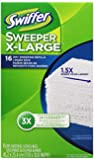 Swiffer Sweeper X-Large Dry Sweeping Cloths Refill, Unscented, 16-Count (Pack of 3) (Packaging May Vary)