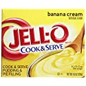 JELL-O Cook and Serve Pudding and Pie Filling, Banana Cream, 4.6 Ounce