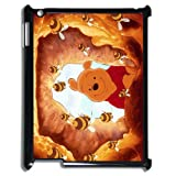Funny Winnie the Pooh and Bees Protector Bumper Slim Hard Plastic Back Case for iPad 2/3/4