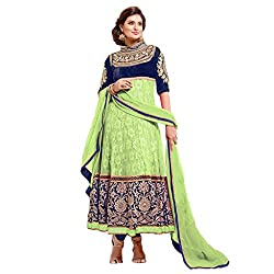 Krishna Present All New wedding Wear Embroidered Green Color Dress Meterial.
