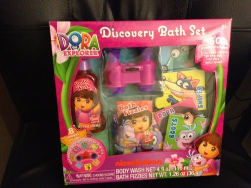 Dora The Explorer Bath Set W/ 60 Bath Fizzies, Body Wash, Binoculars + More!