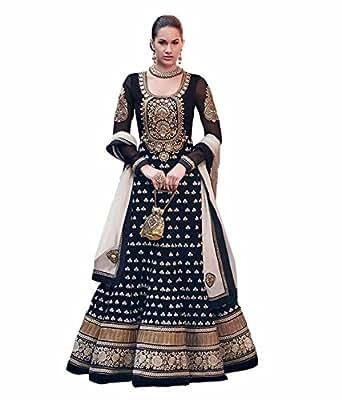 Amazon.com: Black Anarkali Indian Pakistani Designer