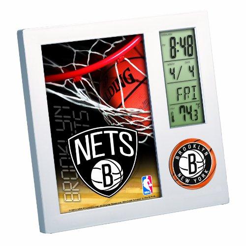 NBA Brooklyn Nets Digital Desk Clock