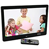 10.1 Inch Hi-Res TFT LED Digital Photo Frame & HD Video(1080P 720p)&Music Playback with Remote Control&Calendar Clock Support 32GB SD Card -Black