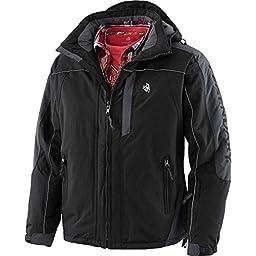Legendary Whitetails Men\'s Glacier Ridge Pro Series Winter Jacket Black X-Large