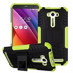 Creazy® Armor Stand case Shockproof Back Cover For Asus Zenfone 2 Laser ZE550K 5.5 (Green)