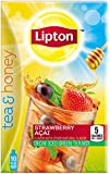 Lipton Tea & Honey To-Go Packets, Decaf Strawberry Acai Iced Green Tea, 0.14 oz., 10 ct (Pack of 6)