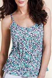 Per Una Pebble Print Burnout Camisole Top [T62-3778I-S]