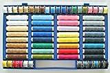 Nähgarn-Sortiment-Set 64-teilig Syngarn 100% Polyester...