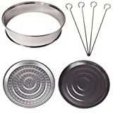 Halogen Oven Accessories includes extender ring, baking and steamer trays and skewers, suitable for any 10-12 litre Halogen Ovenby Andrew James
