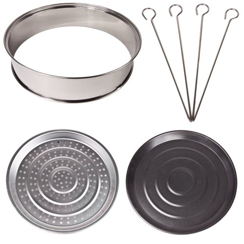 Andrew James Halogen Oven Accessories Set, 4 Piece, Suitable For Any 10-12 Litre Halogen Oven