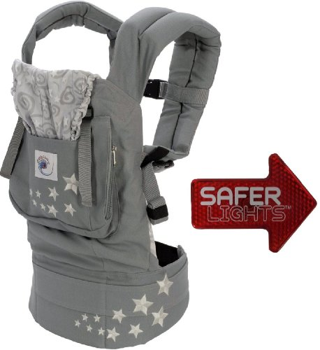 Ergo Baby Galaxy Grey Carrier with Free Bonus Safer Light LED Safety Reflector