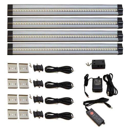 Lightkiwi X8402 12 Inch Cool White Modular Led Under Cabinet Lighting - Standard Kit (4 Panels)