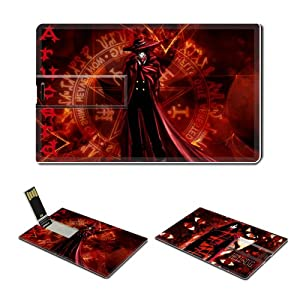 16GB USB Flash Drive USB 2.0 Memory Credit Card Size Anime Hellsing Comic Game Customized Support Services Ready Alucard-003