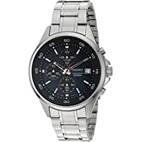 Seiko Men's Quartz Stainless Steel Dress Silver-Toned Watch (SKS475)