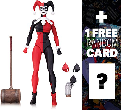"Harley Quinn - No Man's Land: ~6"" DC Collectibles DC Comics Icons Action Figure + 1 FREE Official DC Trading Card Bundle (3514)"
