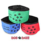 Portable & Collapsible Dog Water Bowl (3 Pack) - Useful Travel Bowl for Your Animals. Keep One in Your Car, Backpack, Purse or House with Your Feeding and Watering Supplies or with Your Hunting Dog Equipment. Washable Light Weight Car Travel Accessories fo
