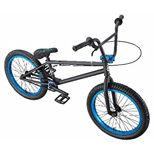 Eastern Bikes Chief BMX Bike (Matte Black with Blue, 20-Inch): Sports & Outdoors