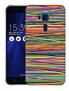 Snoogg Abstract Multicolor Designer Protective Back Case Cover For ASUS ZENFONE 3 ZE520KL
