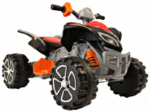 Raptor 12v Ride On Electric Kids Quad - Black