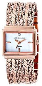 Anne Klein Women's Diamond-Accented Multi-Chain Bracelet Watch