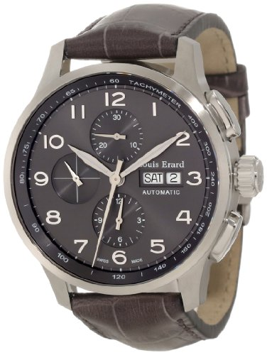 Louis Erard Men's 78228AS13.BDC56 1931 Automatic Grey Leather Chrono Tachymeter Date Watch