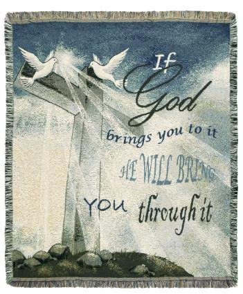 If God Bring You Home Tapestry Toss Blanket Throw Usa Made front-875451