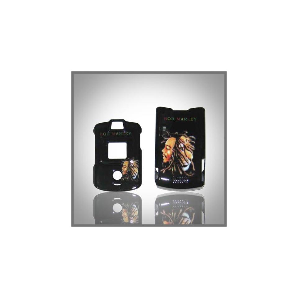 Bob Marley Reggae Designd ABS Design case cover for Motorola RAZR V3