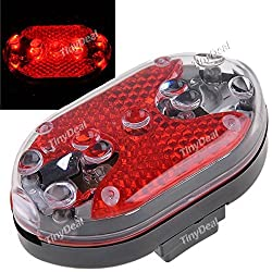 9-LED Multi-function Caution Light Safety Light Pilot Lamp for Bicycle Bike Walking - Red Light FLD-132859