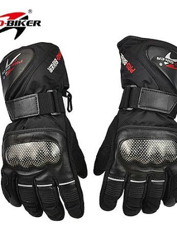 PRO-BIKER HX-05 Motorcycle Thickened Warm Waterproof Anti-Slip Racing Gloves , black-l , black-l