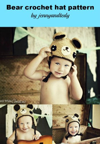 Easy Bear Hat With Earflap Crochet Pattern Multiple Size From Newborn To Adult front-1061313