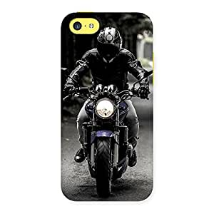 Stylish Bike Rider Multicolor Back Case Cover for iPhone 5C