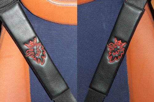 black-leather-leatherette-seat-belt-shoulder-pads-for-saab-scania-01