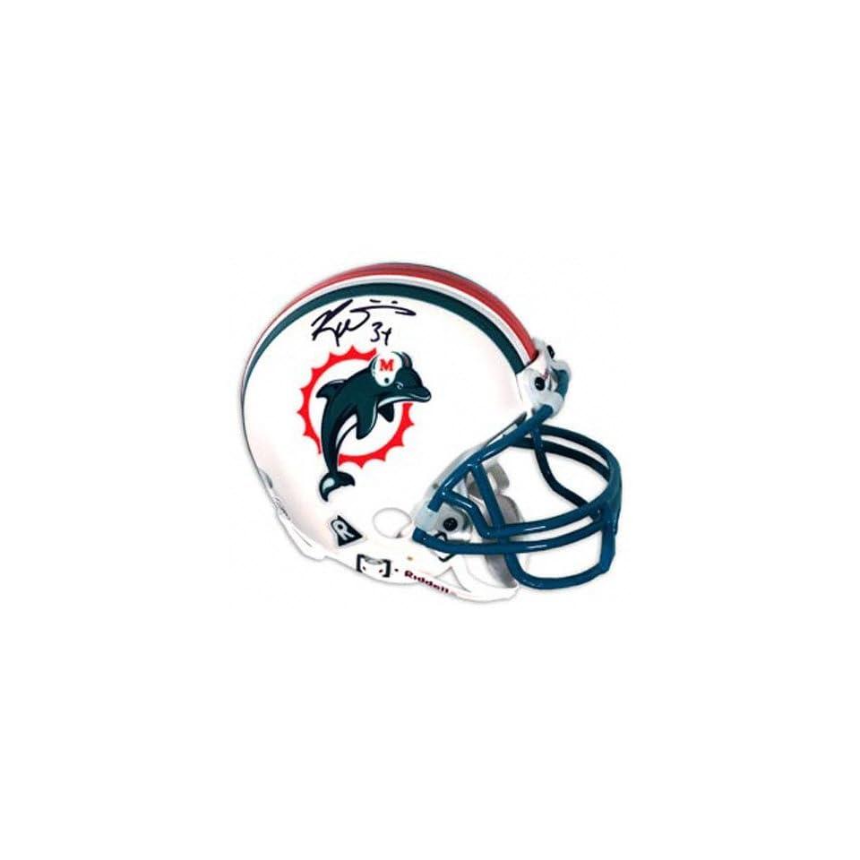 Ricky Williams Miami Dolphins Autographed Mini Helmet