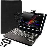 kwmobile® Universal Kunstlederhülle mit integrierter Bluetooth Keyboard Tastatur für Sony Xperia Tablet Z in - Hochwertig und mit QWERTY Tastatur