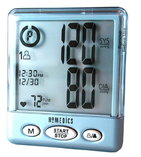 Automatic Wrist Blood Pressure Digital Monitor Homedics BPW-200 Easy to Use Large LCD Display