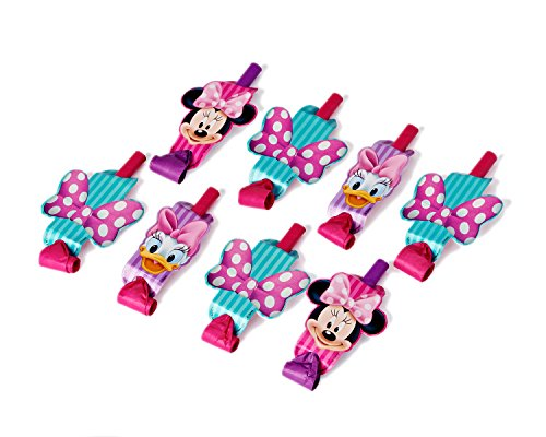 Minnie Mouse Bowtique Party Blowers, Pack of 8, Party Supplies