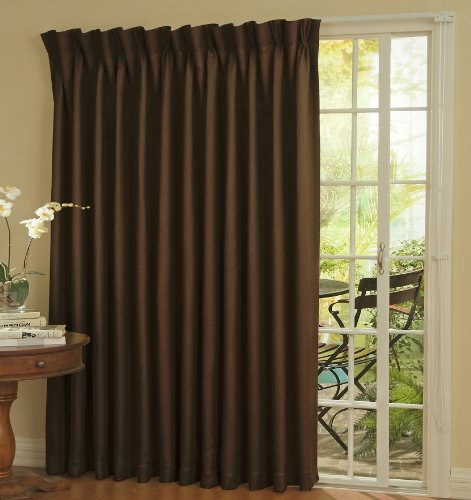 """Eclipse Thermal Blackout Patio Door Curtain Panel, 100"""" X 84"""" Chocolate front-637271"""